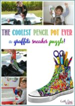The Coolest Pencil Pot Ever – a Graffiti Sneaker!
