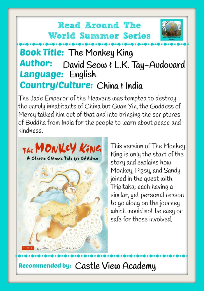 The Monkey King and Read Around The World Summer Series with Castle View Academy homeschool