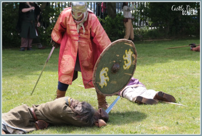 Viking Experience battle ending with Castle View Academy homeschool