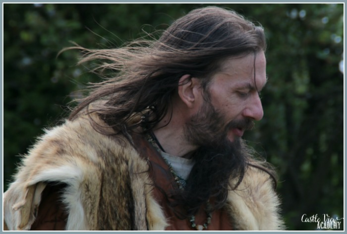 Vikings in character at Portadown Viking Experience with Castle View Academy homeschool