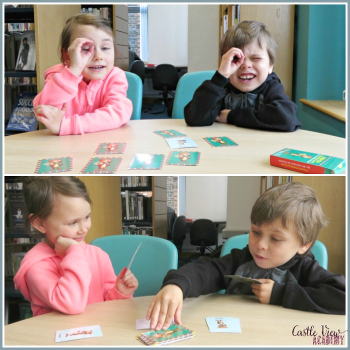 Whistlefritz French playing cards can be used in different ways at Castle View Academy homeschool