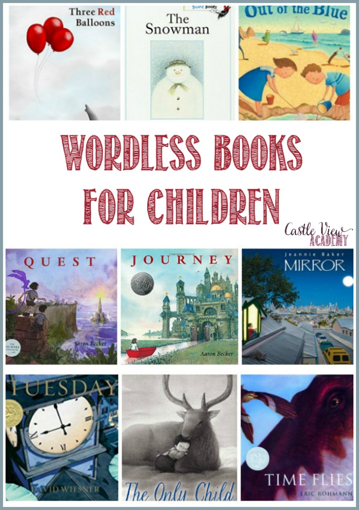 Wordless books for kids at Castle View Academy