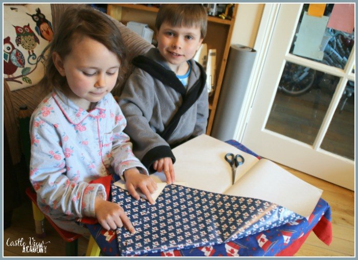 Wrapping a Touch of Asia as a great gift at Castle View Academy homeschool