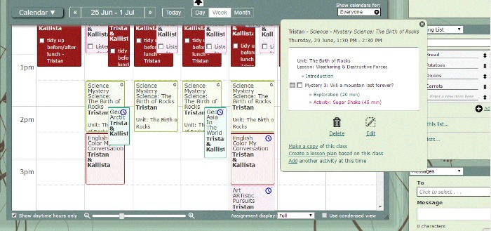 Castle View Academy thinks lesson plans are a great feature of Homeschool Planet online planner