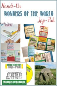 Castle View Academy homeschool reviews a Hands-On Wonders of The World Lap-Pak