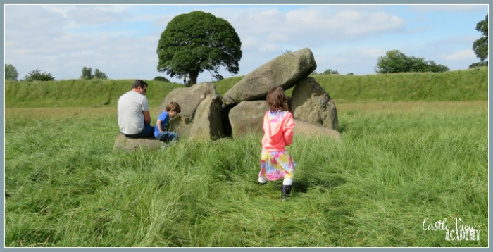Castle View Academy homeschool visits the Giant's Ring and Dolmen in Belfast