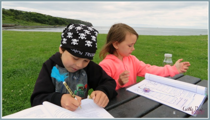 Creative writing is more fun outdoors with Castle View Academy homeschool