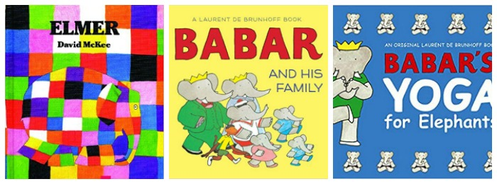 Elephant books for preschoolers at Castle View Academy homeschool