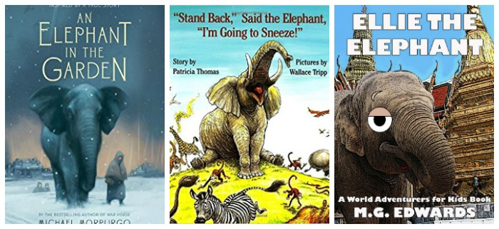 Elephant story books for kids at Castle View Academy homeschool
