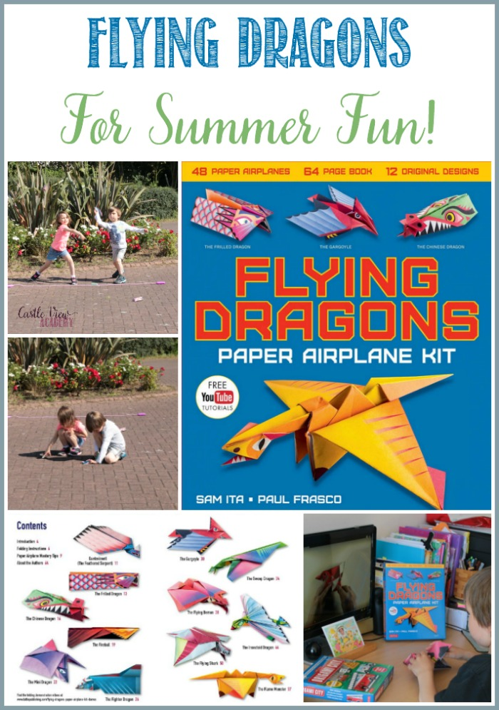 Flying Dragons For Summer Fun at Castle View Academy homeschool