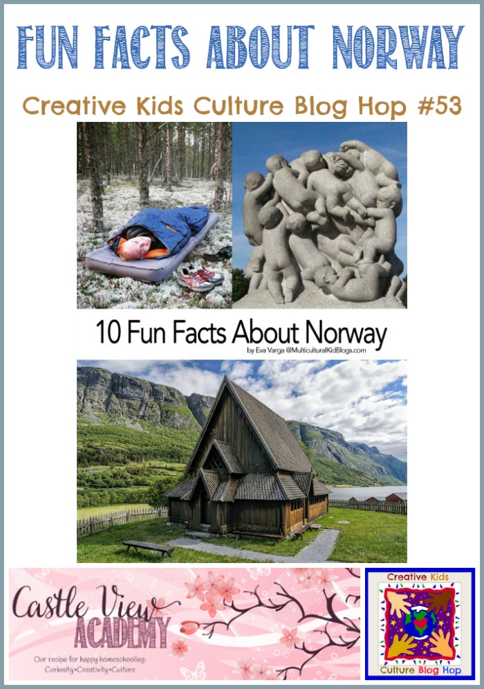 Fun Facts About Norway on the Creative Kids Culture Blog Hop at Castle View Academy homeschool