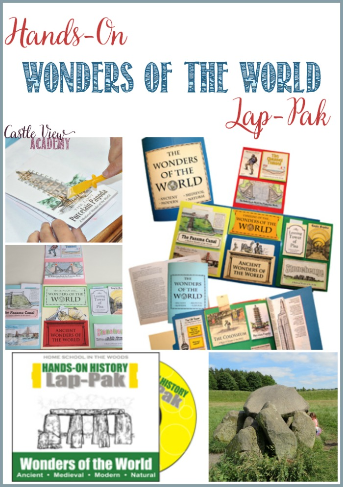 Hands-On Wonders of The World Lap-Pak, a review by Castle View Academy homeschool