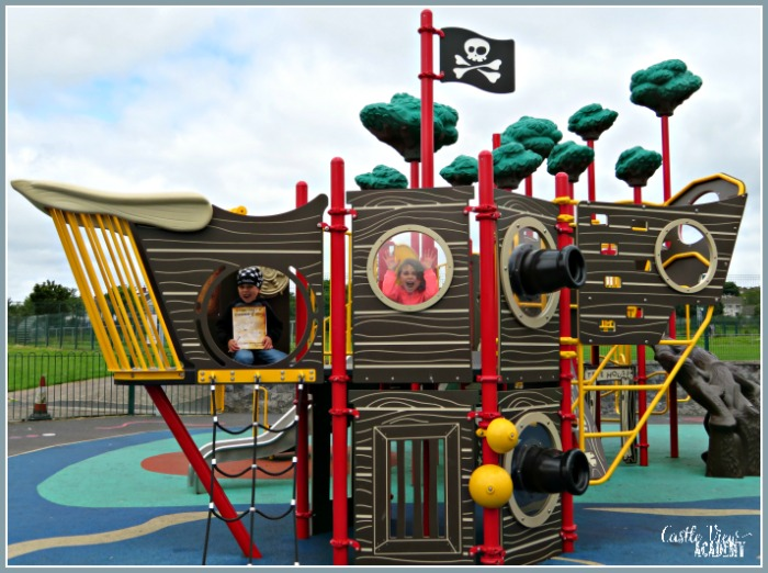 Learning Pirate's Grammar on location with Castle View Academy homeschool
