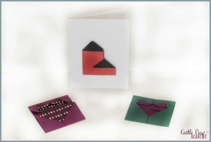 Origami great for cards at Castle View Academy homeschool