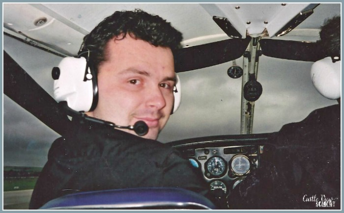 Phil taking flying lessons along, long time ago