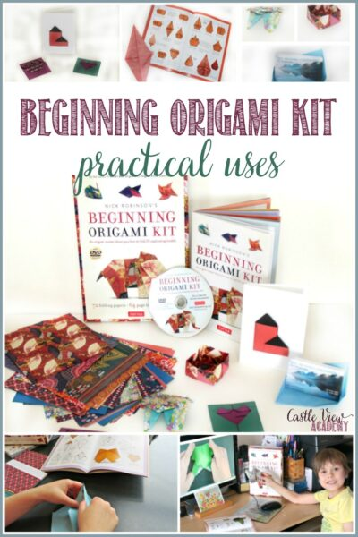 Practical uses for the Beginning Origami Kit by Castle View Academy homeschool