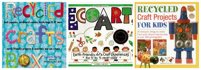 Recycled crafts for kids at Castle View Academy homeschool