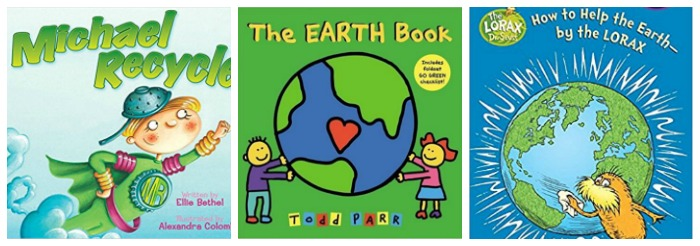 Recycling books for young kids at Castle View Academy homeschool