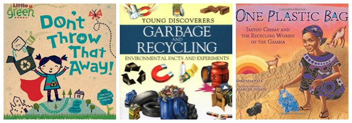 Recycling storybooks for kids at Castle View Academy homeschool