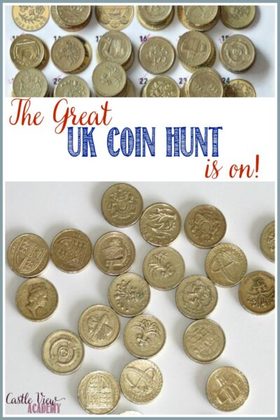 The Great UK Coin Hunt Is On at Castle View Academy homeschool!