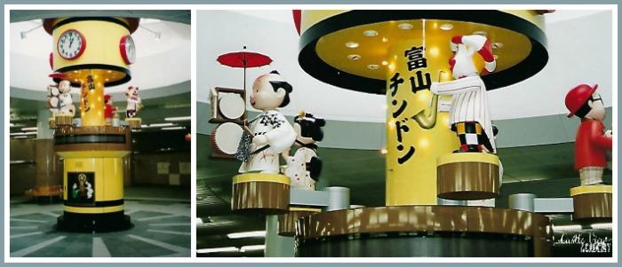 Toyama Eki, Japan has a fun chin-don clock as seen by Castle View Academy