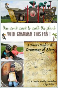 You won't want to walk the plank when grammar class is this fun! Pirate grammar and Castle View Academy homeschool
