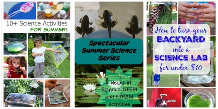 summer science activities for kids at Castle View Academy homeschool