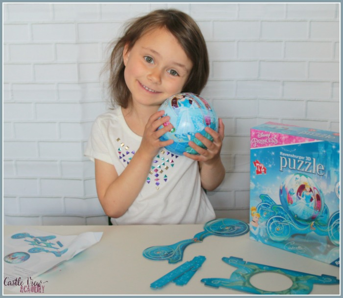 3D Disney Puzzles are lots of fun at Castle View Academy homeschool