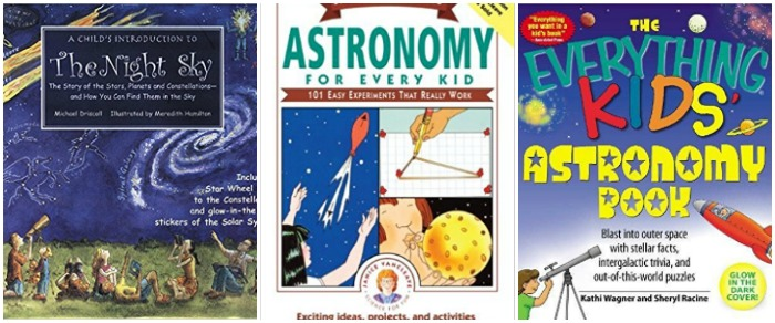 Astronomy books for kids at Castle View Academy homeschool