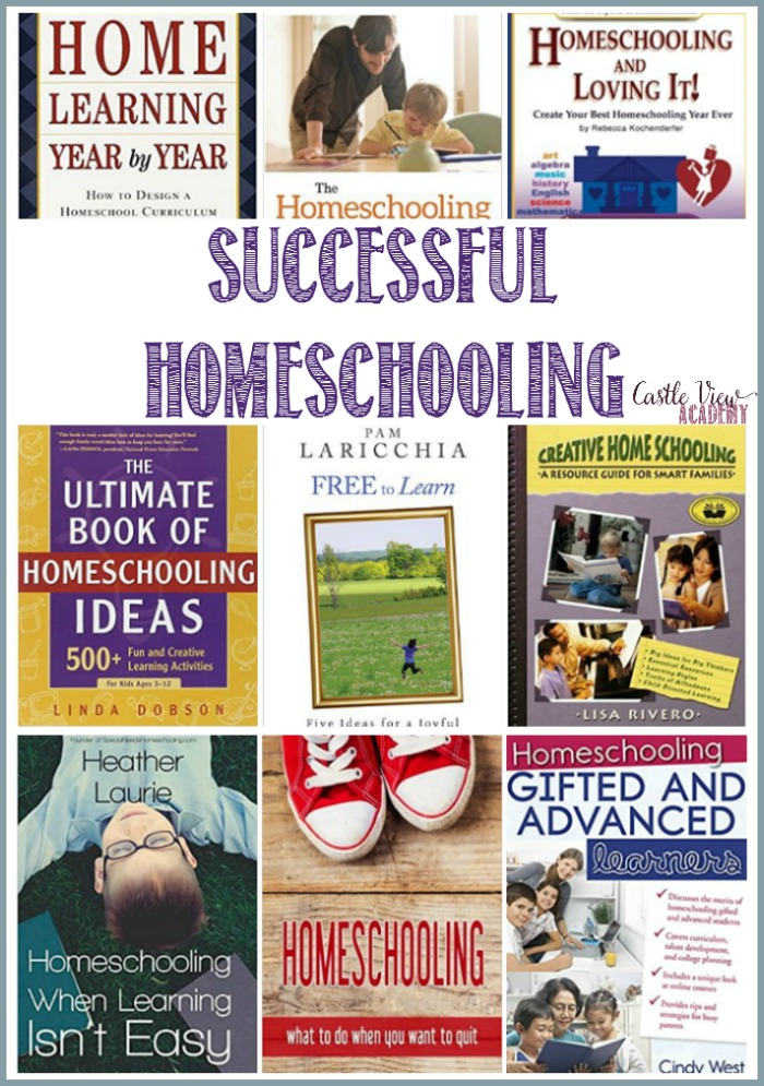 Books for successful homeschooling at Castle View Academy