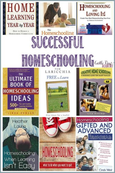 Books for successful homeschooling at Castle View Academy homeschool