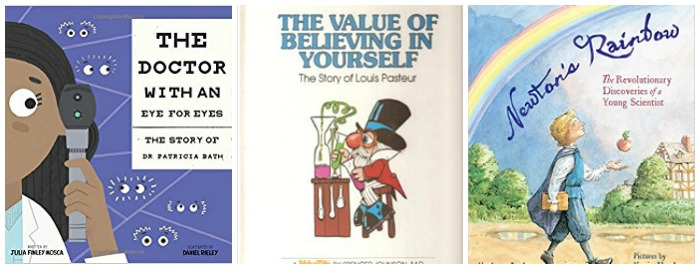 Children's books about scientists at Castle View Academy homeschool