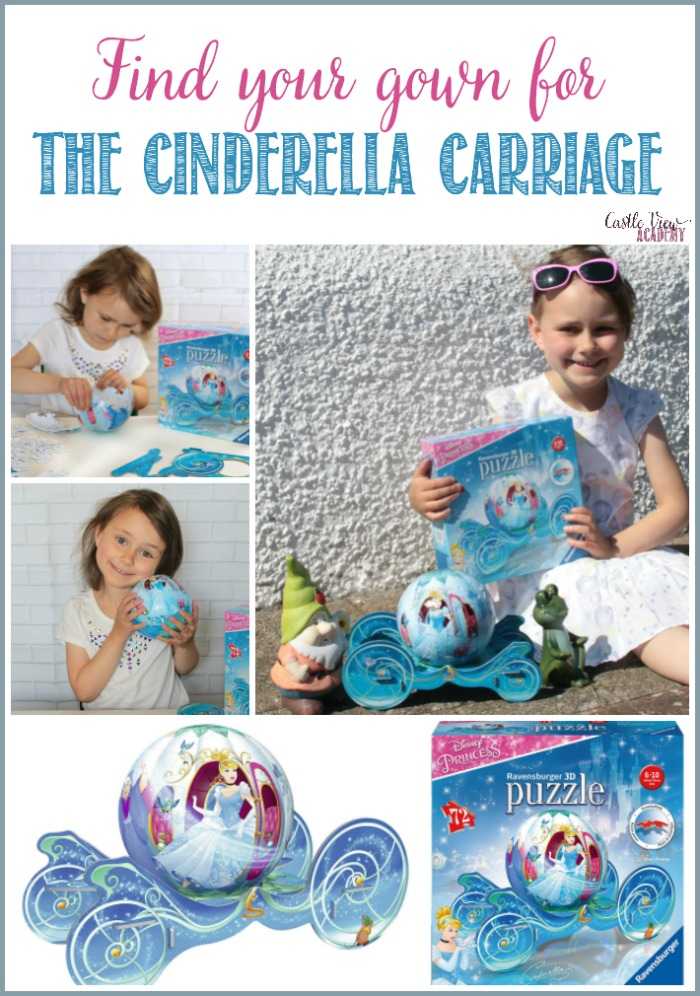 Find Your Gown, The Cinderella Carriage is Here! Castle View Academy reviews this 3D puzzle by Ravensburger