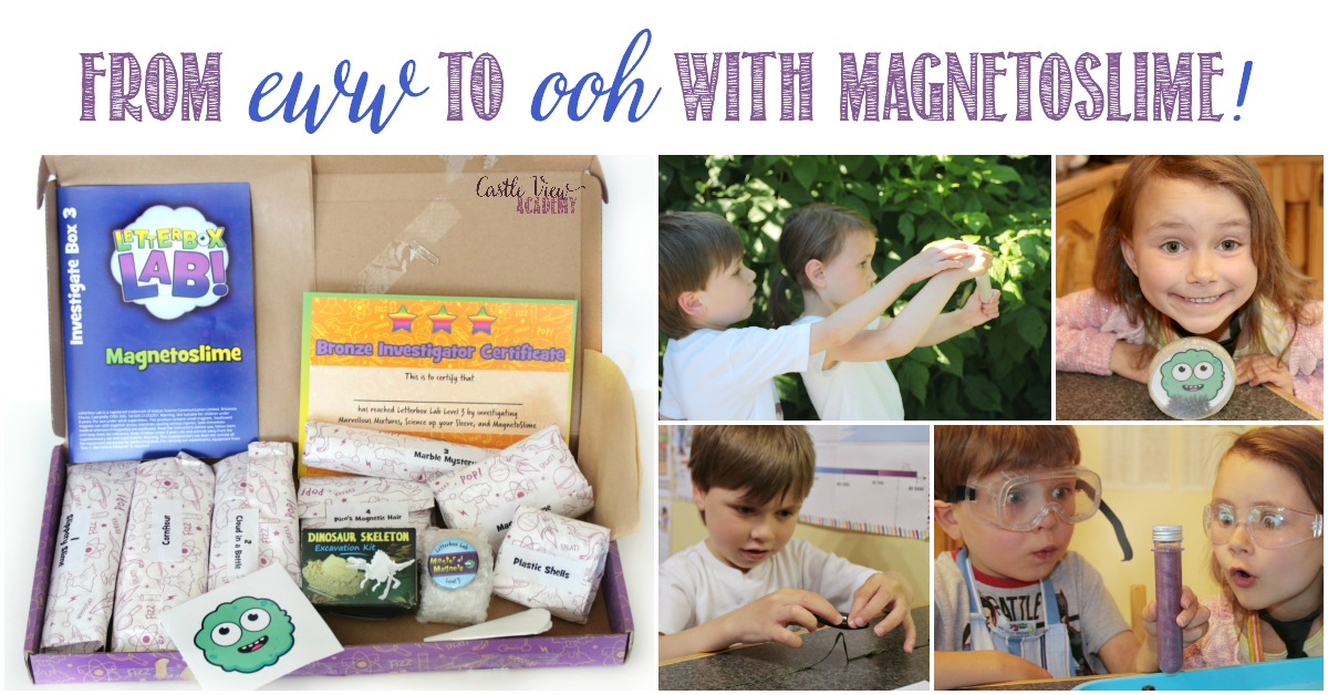 From eww to ooh with Magnetoslime from Letterbox Lab, a review by Castle View Academy homeschool