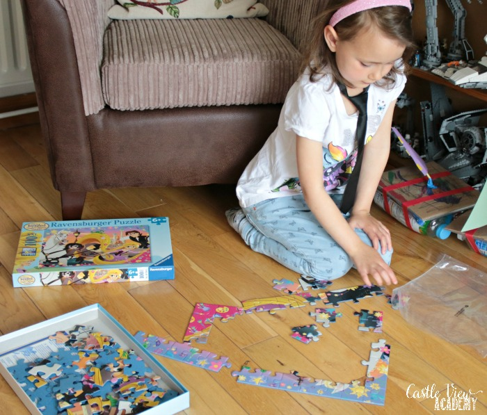 Getting a quick start on the Tangled puzzle at Castle View Academy
