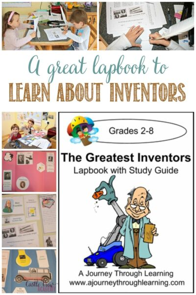 Greatest Inventors lapbook , a review by Castle View Academy homeschool