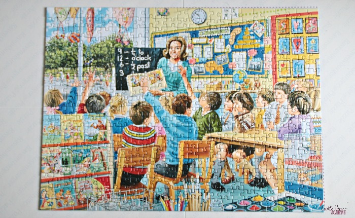 Happy Days at Work - The Teacher puzzle, completed by Castle View Academy