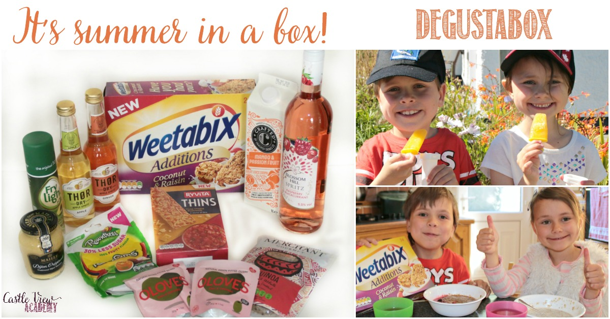 It's summer at Degustabox with Castle View Academy homeschool