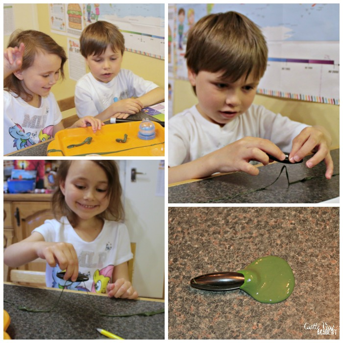 Magnetoslime from Letterbox Lab at Castle View Academy homeschool