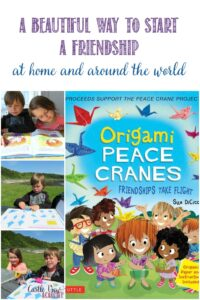 Origamai Peace Cranes, Friendships Take Flight, A beautiful way to start a friendship at home and around the world, Castle View Academy homeschool