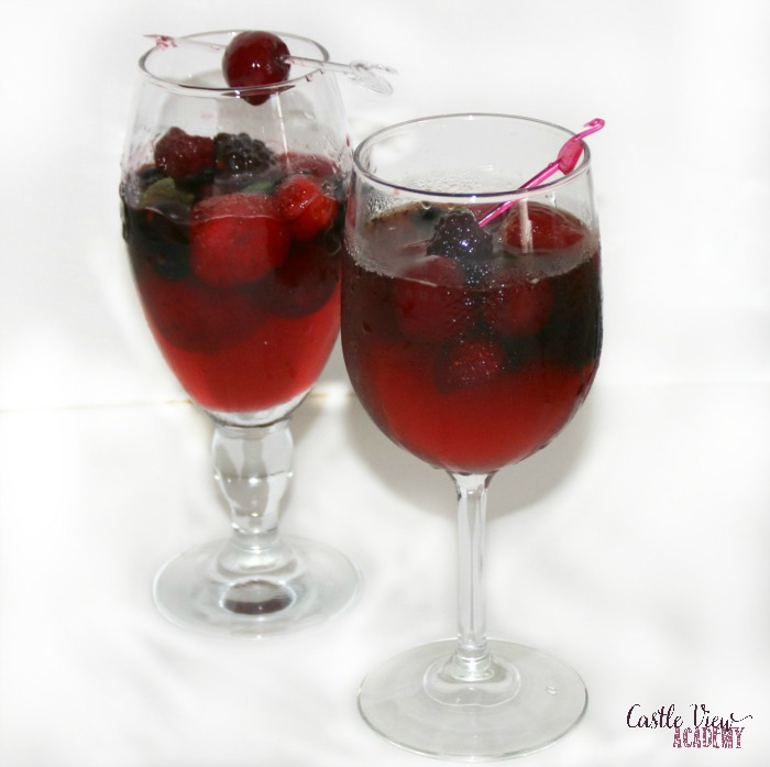 Pimms With Refreshing Fruit Tea, a recipe by Castle View Academy for hot summer days