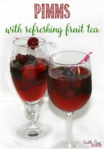 Pimms With Refreshing Fruit Tea, a recipe from Castle View Academy
