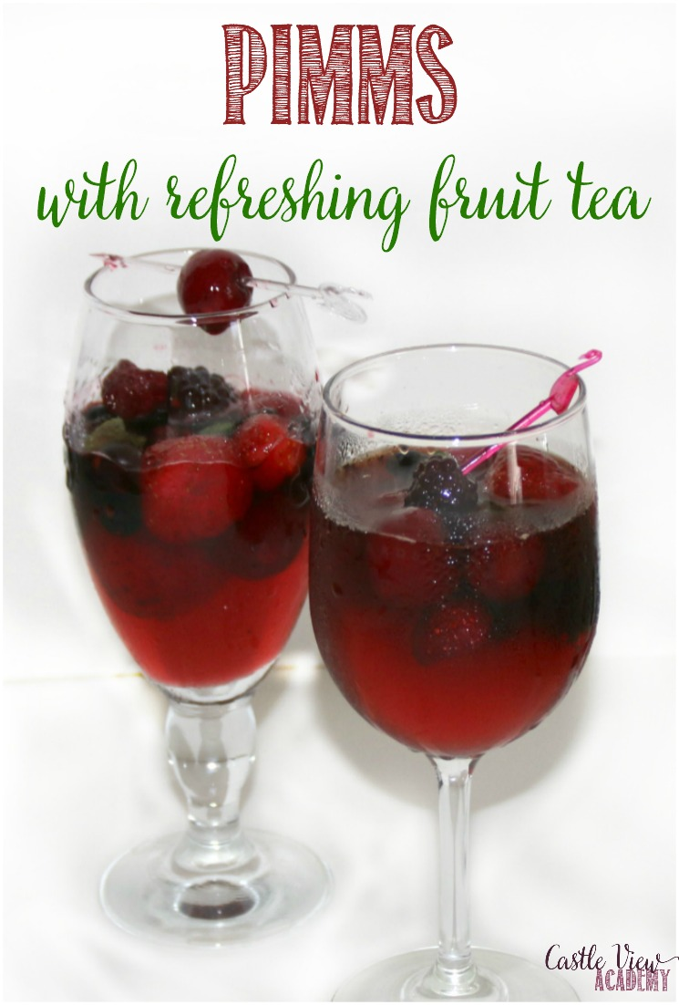 I'm sharing my recipe for Pimms with refreshing fruit tea with you; my own twist for this classic summer drink.