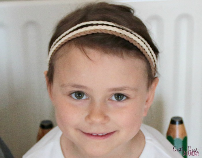 Pretty Hair Lilla Rose hair band can be used by anyone at Castle View Academy homeschool