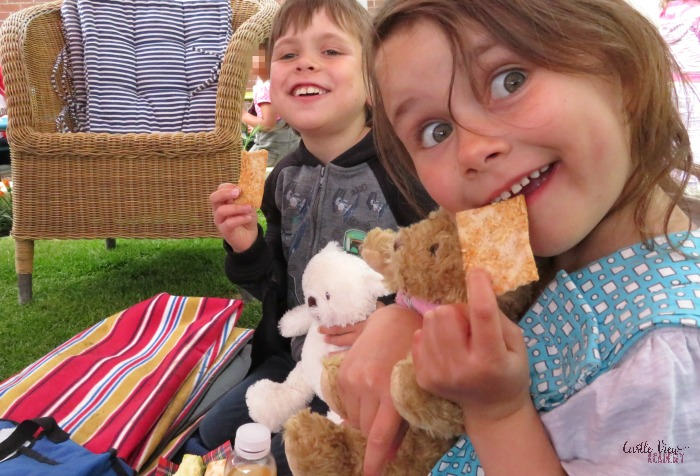 Ryvitta at a teddy bear picnic and Castle View Academy