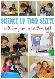 Science up your sleeve wit magical LetterBox Lab, a review by Castle View Academy homeschool