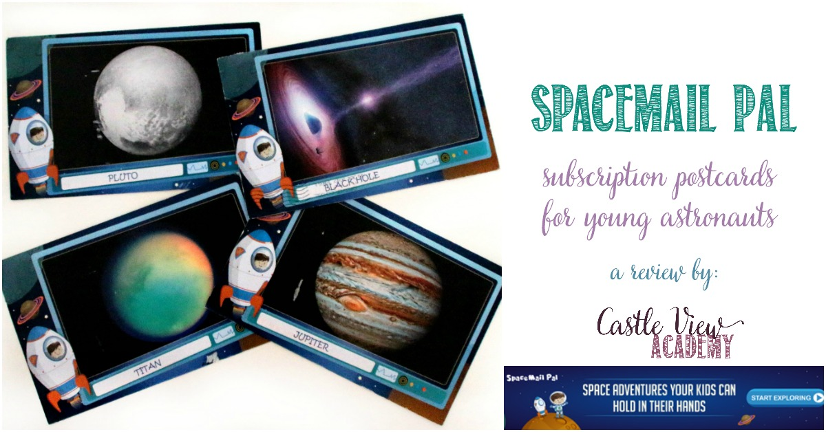 SpaceMail Pal for young astronauts, a subscription service as reviewed by Castle View Academy