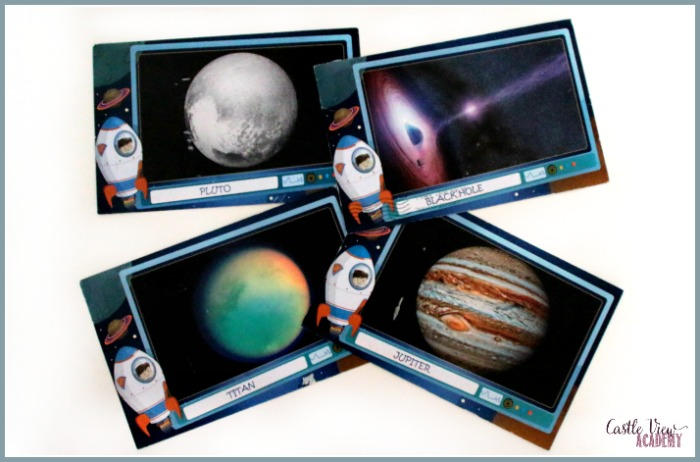 SpaceMail Pal postcards for children are lots of fun for Castle View Academy homeschool