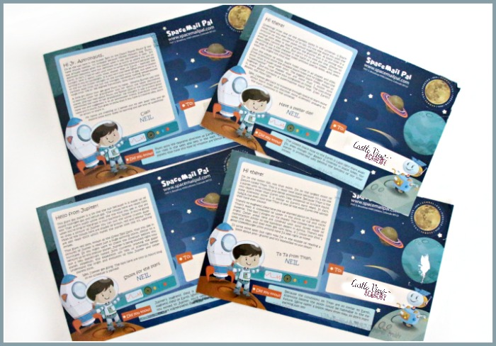 SpaceMail Pal postcards for children are lots of fun for Castle View Academy