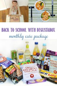 The back to school Degustabox is a care package at Castle View Academy homeschool